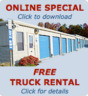 Click to get your Online Special - Free Truck Rental